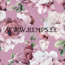French terry peonies