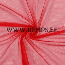 Tulle fabric red